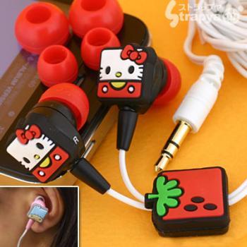 Sanrio 50th Anniversary Cube Strawberry Earphones (Hello Kitty)